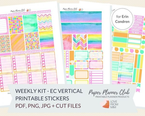 photograph relating to Printable Life Planner known as Tie Dye: Weekly Package Printable Planner Stickers Package for Erin Condren Existence Planner Weekly Planner Stickers