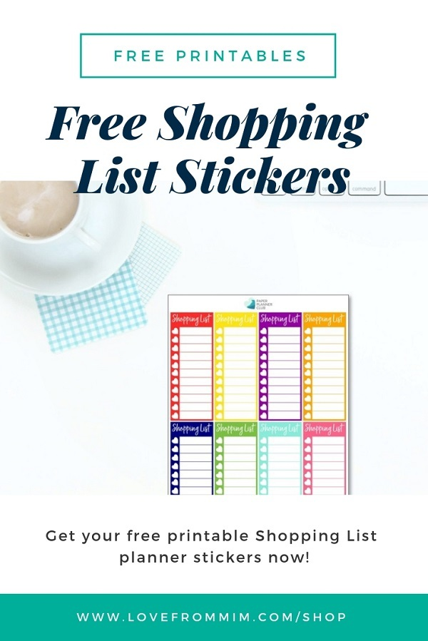 These Free Printable Shopping List Stickers will help you decorate your Erin Condren LifePlanner or other planners and stay super organised and productive! Whether you're a no white space planner or not, you have such much choice on this digital printables To Buy Stickers sheet. #digitalstickers #freeprintables #printableplannerstickers #freesplannerstickers #plannerstickers #shoppinglist #shoppingstickers #tobuystickers #grocerylist #groceryliststickers #tobuy #tobuystickers