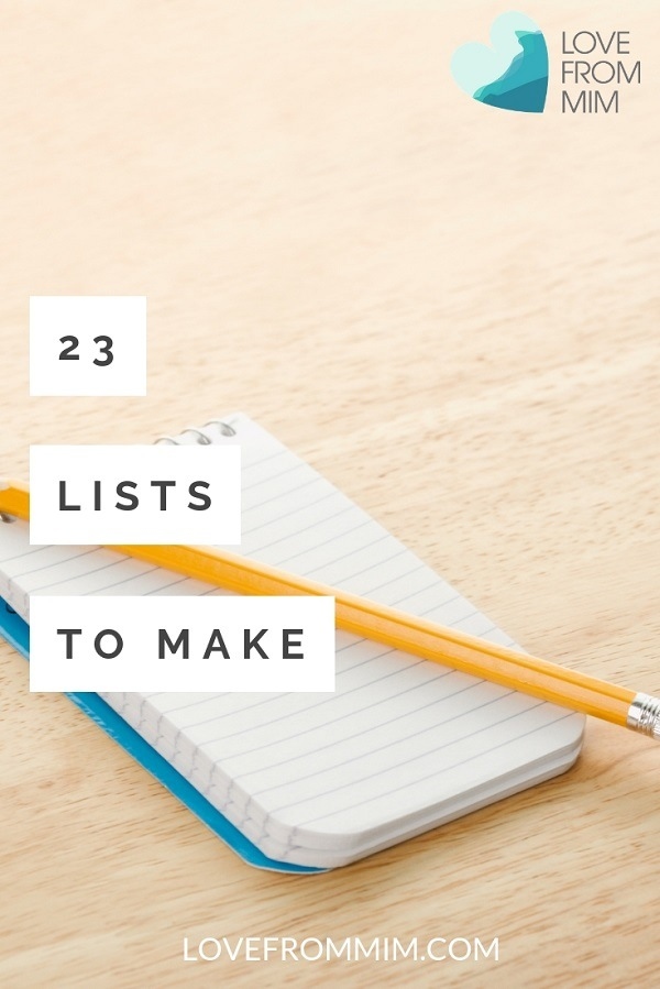 Here are 23 Fun Lists to Make in life, when you're overwhelmed or bored! Fun list ideas for your planner, personal or work - get organised and have fun at the same time! #listideas #lists #funlists #liststomake #planners #organisation #organizationideas