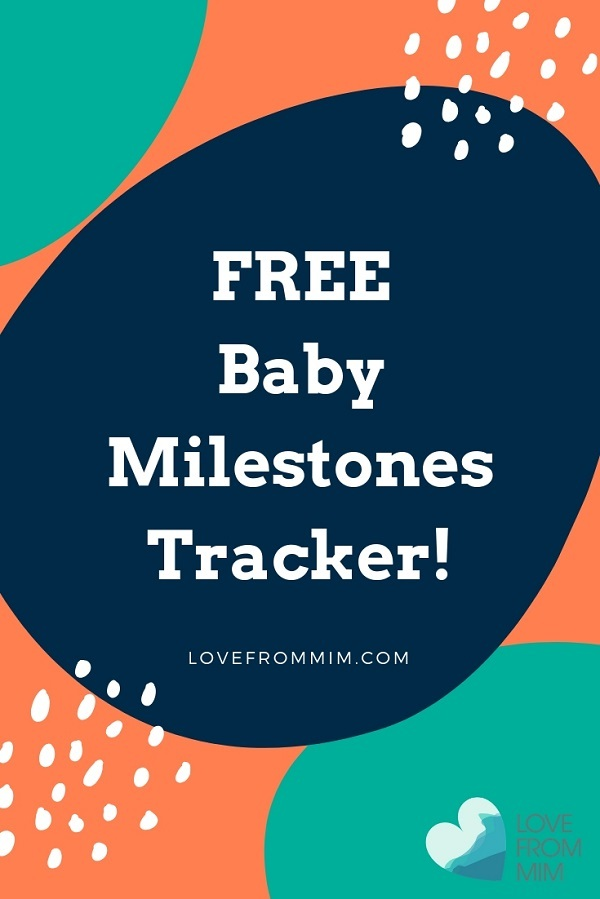 Record your baby's special memories with this FREE Baby Milestones Tracker printable and checklist! - Love from Mim #babies #newborn #babytracker #babymilestones #babymilestonestracker #newborntracker #babymemories