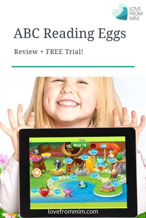 In this ABC Reading Eggs Review and Demo you can learn how to teach a child to read and how to use ABC Reading Eggs - plus grab your FREE ABC Reading Eggs trial too! Love from Mim #abcreadingeggs #learntoread #kidsbooks #onlinereadingprogram #readingeggs #reading #education #onlineeducation #lovefrommim