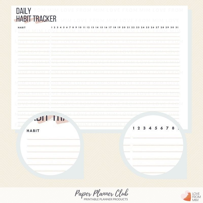 photograph regarding Daily Habit Tracker Printable identify Printable Day-to-day Practice Tracker