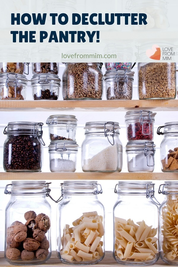 How to Declutter the Pantry in my pantry organisation video! I share pantry organization tips and the best pantry storage ideas for us - Love from Mim #pantry #pantryorganisation #pantryorganization #kitchendeclutter #pantrydeclutter #kitchenorganisation #kitchenorganization #konmarikitchen #mariekondokitchen