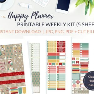 Printable Christmas Wrapping Weekly Kit of printable Christmas planner stickers for the Classic Happy Planner or most other planners! Get the best Happy Planner planner stickers and printable Happy Planner stickers in my best planner stickers range. #plannerstickers #freeprintables #printableplannerstickers #weeklykit #weeklystickers #etsystickers #happyplannerstickers #planning #happyplanner #lovefrommim #paperplannerclub #christmasstickers