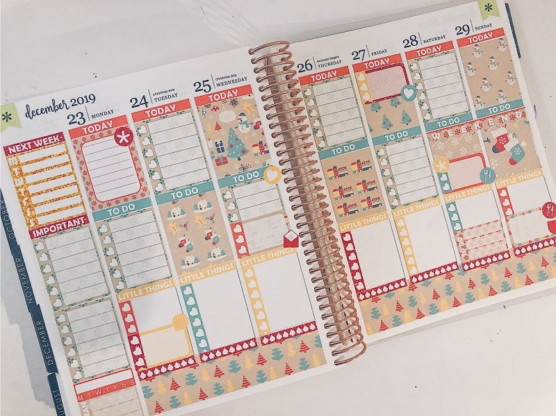 Paper Planner Club - Christmas Wrapping - Weekly Kit - Love from Mim