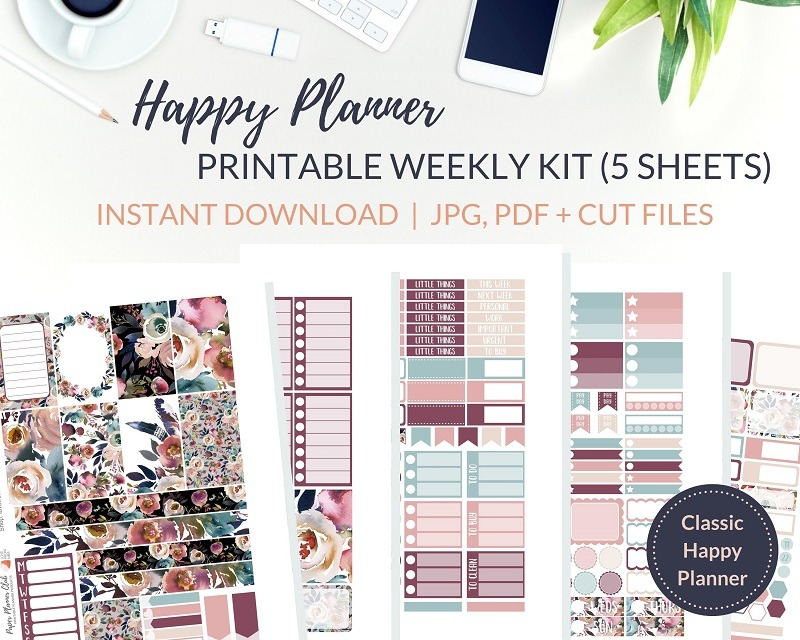 Printable Dusk Weekly Kit of printable planner stickers for the Classic Happy Planner or most other planners! Get the best Happy Planner planner stickers and printable Happy Planner stickers in my best planner stickers range. #plannerstickers #freeprintables #printableplannerstickers #weeklykit #weeklystickers #etsystickers #happyplannerstickers #planning #happyplanner #lovefrommim #paperplannerclub