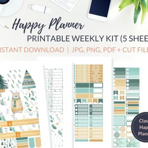 Printable Scandi Christmas Weekly Kit of printable Christmas planner stickers for the Classic Happy Planner or most other planners! Get the best Happy Planner planner stickers and printable Happy Planner stickers in my best planner stickers range. #plannerstickers #freeprintables #printableplannerstickers #weeklykit #weeklystickers #etsystickers #happyplannerstickers #planning #happyplanner #lovefrommim #paperplannerclub #christmasstickers