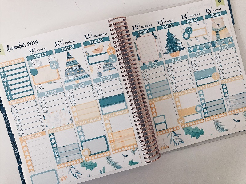 Paper Planner Club - Scandi Christmas Weekly Kit - Love from Mim