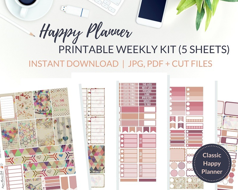 Printable To the Moon & Back Weekly Kit of printable planner stickers for the Classic Happy Planner or most other planners! Get the best planner stickers and printable stickers in my best planner stickers range. Ideal for Valentine's Day stickers, engagement stickers or wedding stickers #plannerstickers #freeprintables #printableplannerstickers #weeklykit #weeklystickers #etsystickers #happyplannernstickers #planning #lovefrommim #paperplannerclub #classichappyplanner #valentinesstickers #weddingstickers