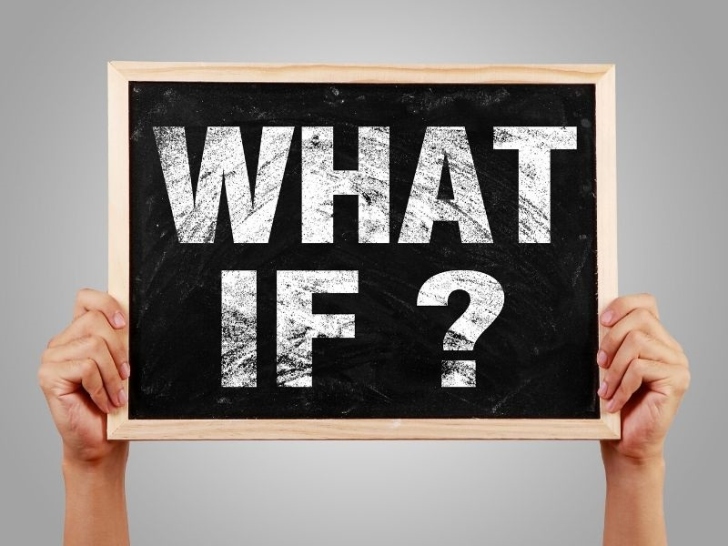 What If? on chalkboard